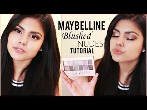 Maybelline Blushed Nudes Palette Tutorial ♡ - YouTube