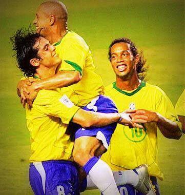 Kaka, Roberto Carlos, and Ronaldinho #Legends