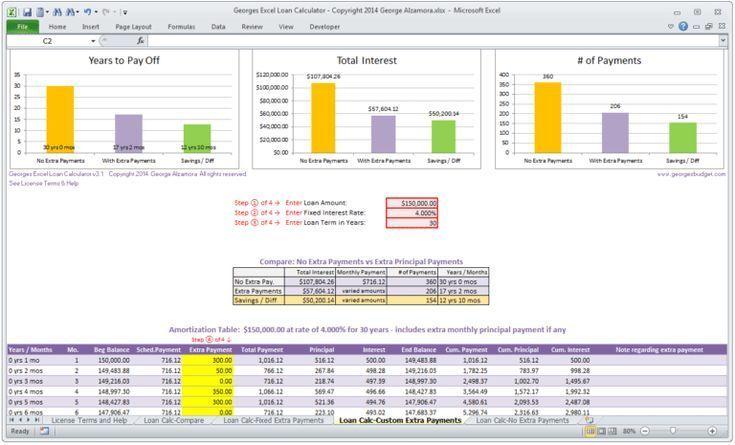Mortgage Calculator Template 101 Free Online Mortgage Calculator