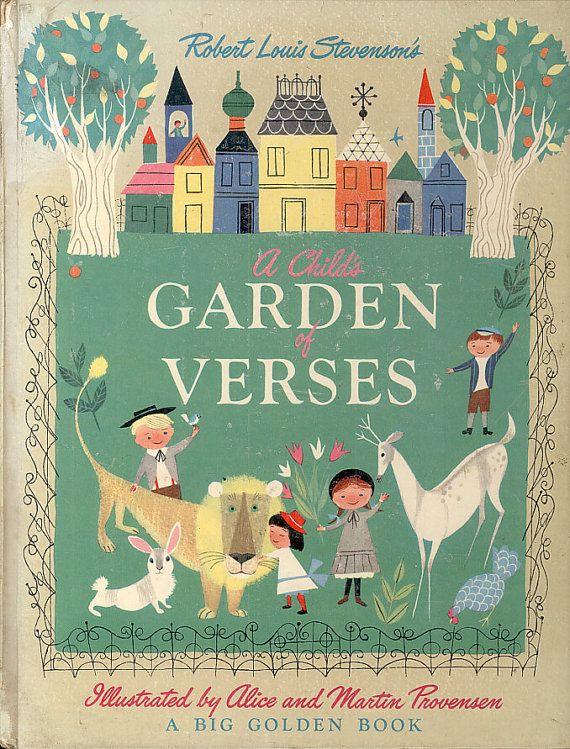 Childs Garden of Verses Robert Louis Stevenson Alice & Martin Provensen Big Golden Book Poetry Poems Picture Book CrabbyCats, Crabby Cats