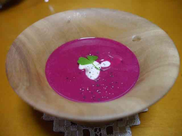 ビーツのポタージュスープの画像