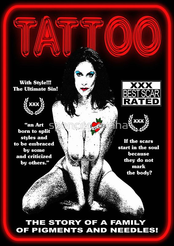 A re-read of the Taboo movie poster Of 1980 starring Kay Parker. Movie that won the Homer Prize In the category of Best Adult Tape The proposal was to play with the taboo presented In the plot of the film and also taboo and tattoo. An art born to split styles And to be embraced by some and criticized by others. Questioning the change of values in history Within each family in its territorial location.