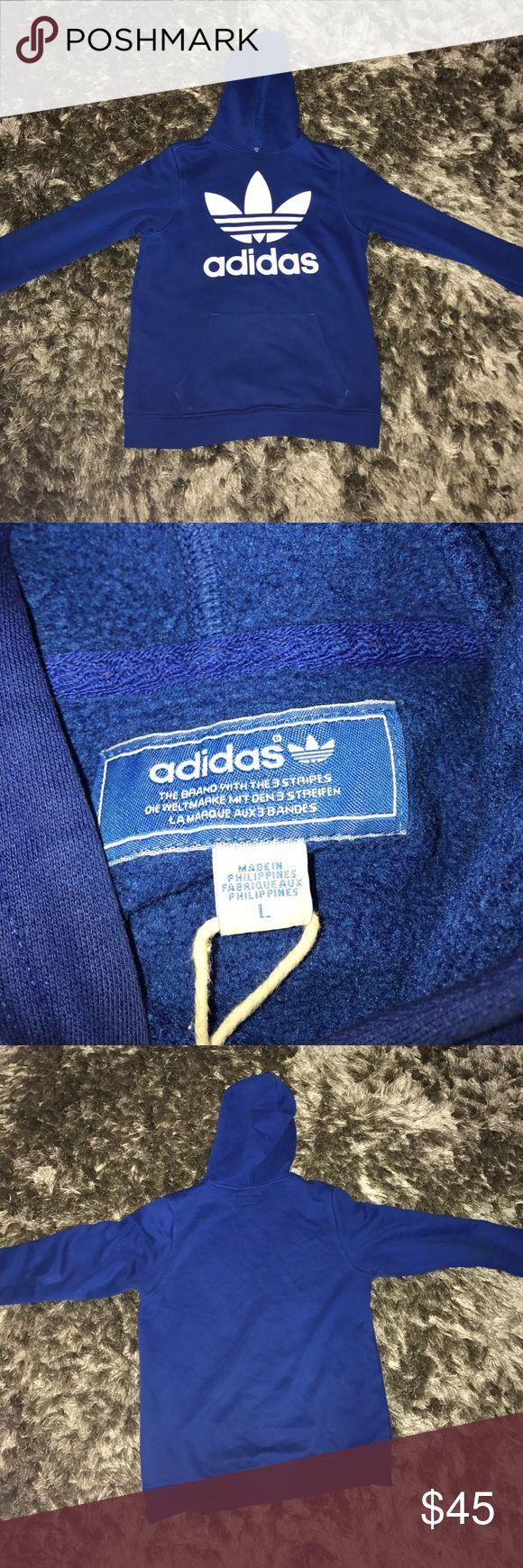 Addidas hoodie Nice blue and white hoodie from adidas adidas Shirts & Tops Sweatshirts & Hoodies