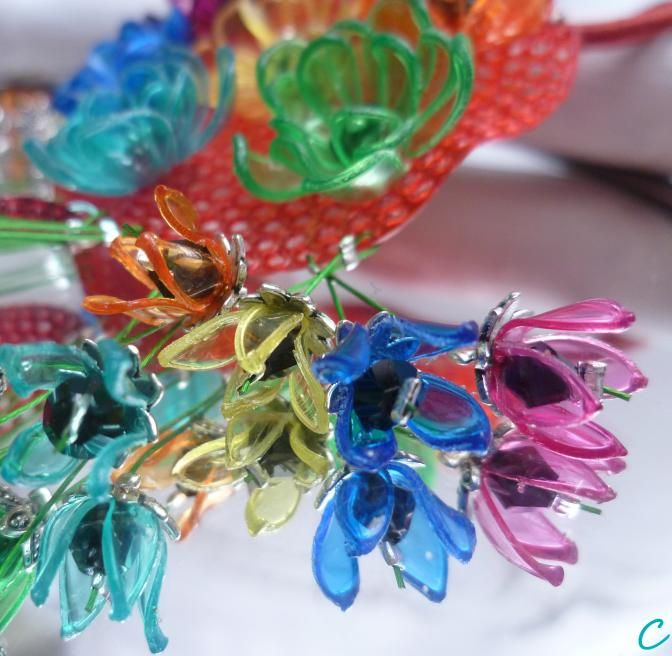 .. make love .. recycling plastic bottle jewelry