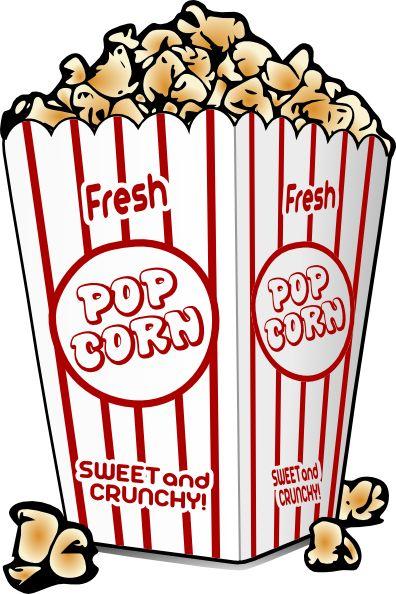 Free Cartoon Graphics Fair Food | Popcorn Clip Art   Vector Clip Art  Online, Royalty