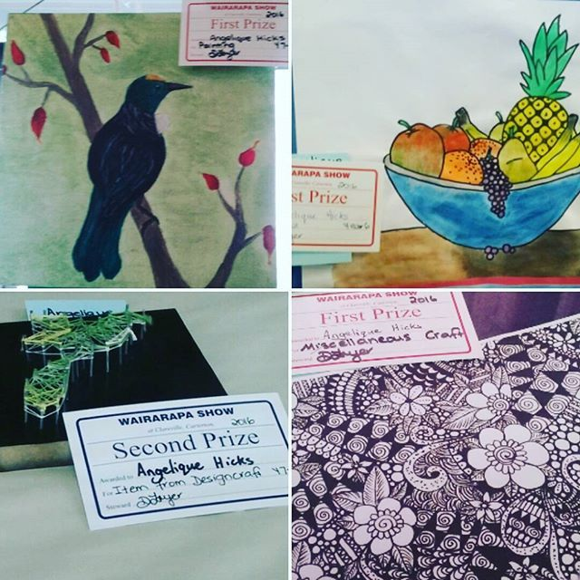 I entered these things at the AnP show in NZ. I got 1 second and 3 firsts, and one nothing, but I didn't like that one anyway. But I am really proud and thought I would share it with you! #creative_n_crafty #nz #AnPshow #artentre #art #firstprize #secondprize #proud I AM NOT TRYING TO BRAG I AM JUST PROUD OF MYSELF
