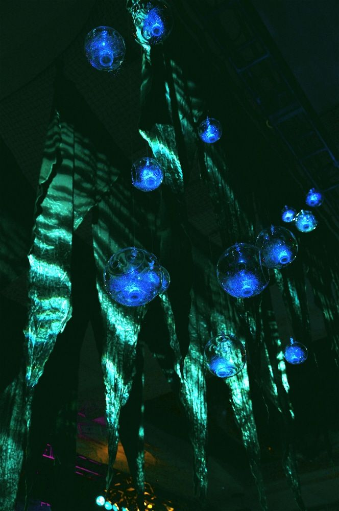 Gorgeous underwater theme. Love the suspended bubbles.    New Years 2012 Event Decor by Jessica Charest at Coroflot.com