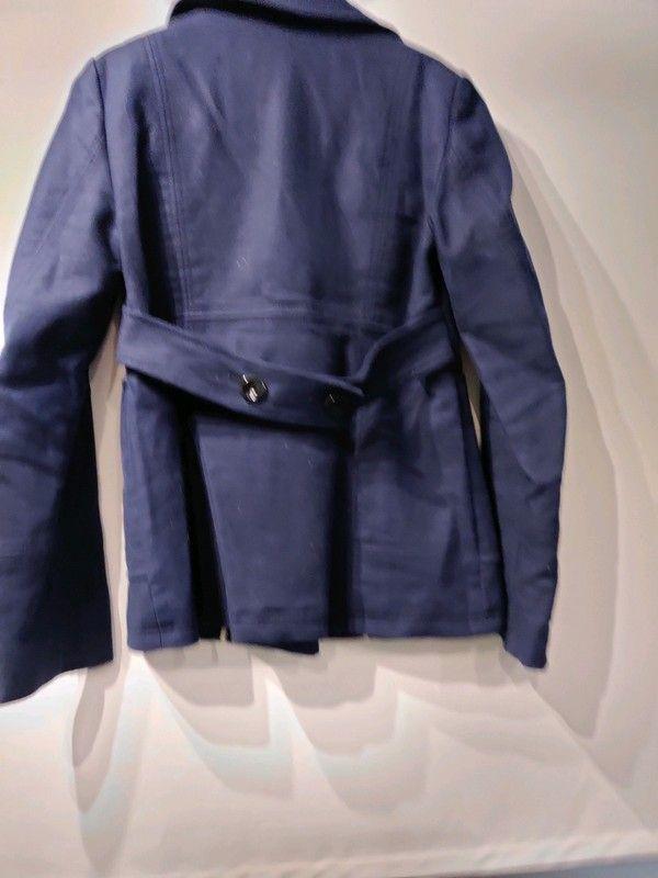 manteau bleu ciel Zara Vinted