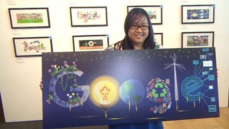 Jana Panem, a student at Madonna Catholic Secondary School, won a nation-wide contest for young artists to design a Google doodle — the banner atop the search engine home page.