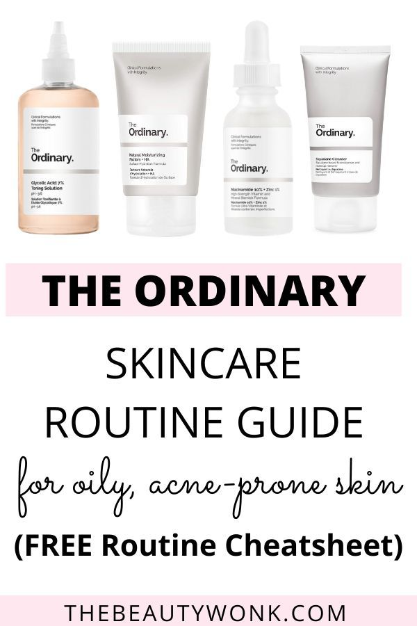 The Ordinary Skincare Routine For Oily Acne Prone Skin In 2020 The Ordinary Skincare Routine Basic Skin Care Routine The Ordinary Skincare