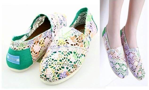Cheap Toms Green Multi Toms Classics Women Shoes $26.66