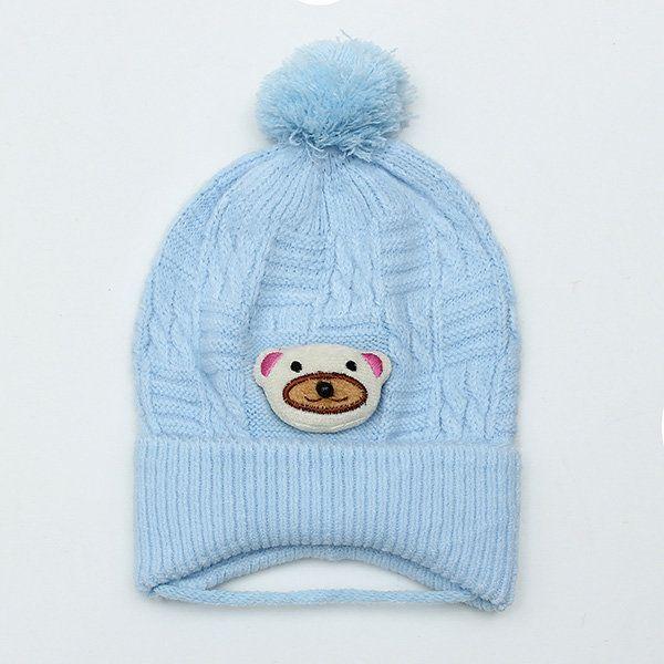 Newborn Baby Boy Girl Braided Knitted Infant Toddler Soft Crochet Bear Hat Beanie Warm Caps at Banggood