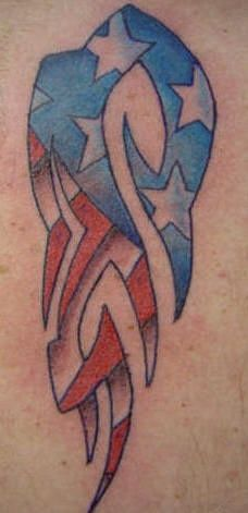 Best 25 american flag tattoos ideas on pinterest for Patriotic tribal tattoos