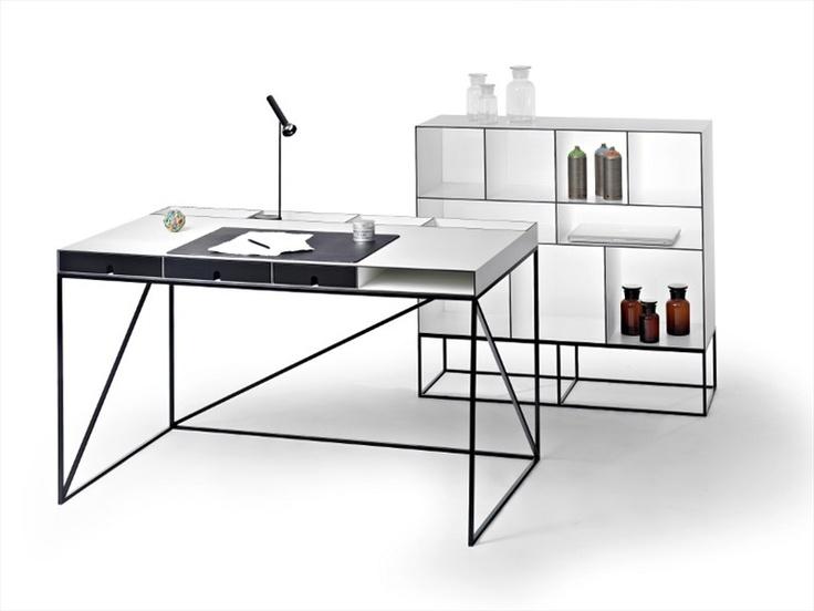 Steel Secretary desk WOGG 54 by Wogg   Design Christophe Marchand (2012)