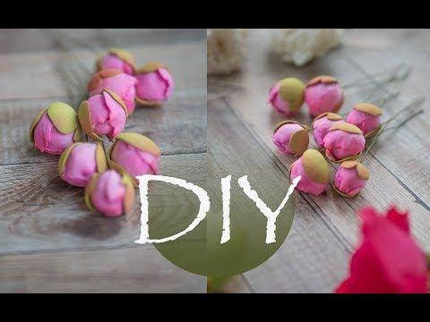 Маленькие бутоны пиона из фоамирана DIY Small peony buds from foamiran - YouTube