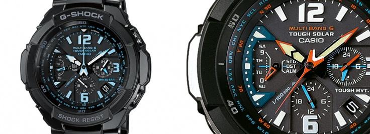 Los GW-3000 nacieron con el sueño de representar una gama de relojes inspirada en la aviación. Relojes súper resistentes  y con motivos que te hacen sentir como si estuvieras dentro de la cabina pilotando un caza. Existen 3 modelos, el GW-3000M con una correa naranja espectacular, el GW-3000B en el que el naranja está en su interior y el GW-3000BD con tonalidades azules.