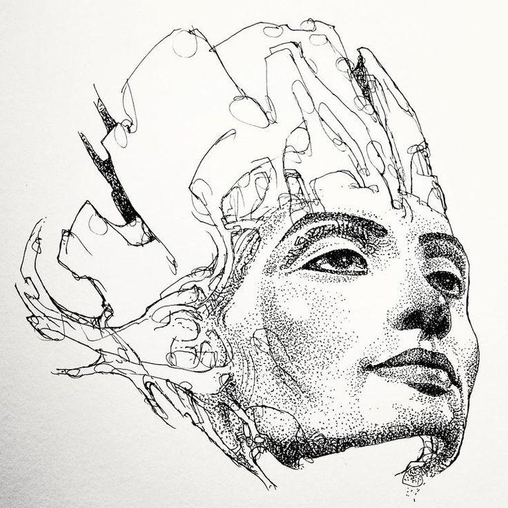 Pin en Tattoo ideas |Nefertiti Tattoo Drawing
