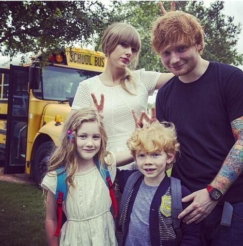 Little Taylor and Ed and big Taylor and Ed, so cute