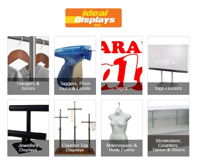 Shop Fitting Accessories and Display Components - http://www.idealdisplays.com/