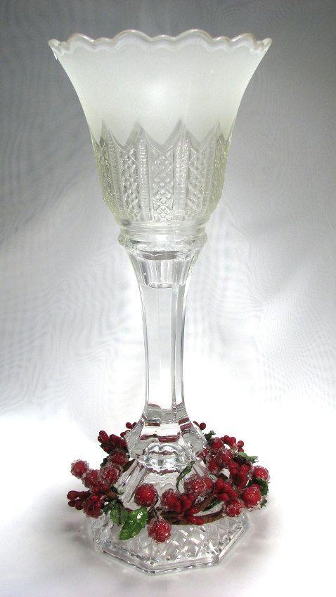Cut Glass Candlestick Repurposed By Spintilyurdizzy 20