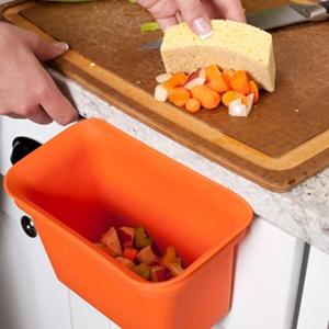 full circle scrap happy scrap collector u0026 freezer compost bin orange best kitchen