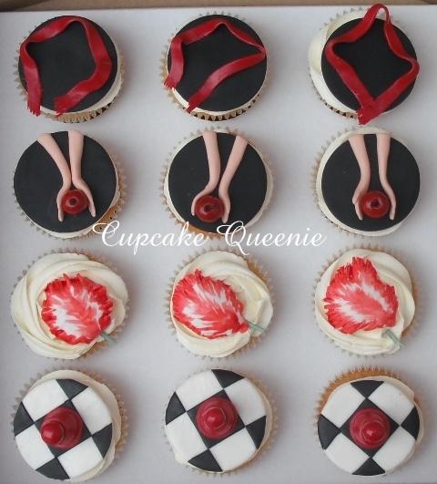 Twilight series cupcakes, top view by Cupcake Queenie, via Flickr