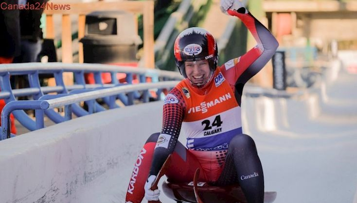 Gough, McRae crowd the podium at luge World Cup