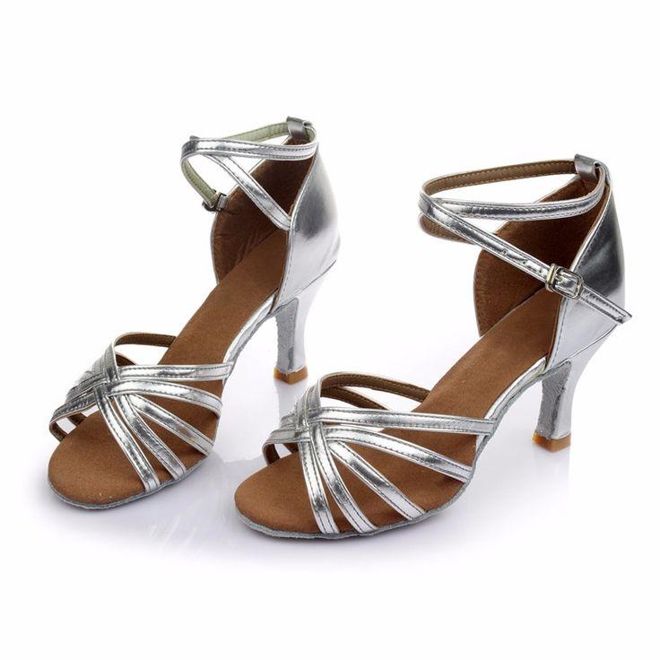 Brandnew женщин Бальные Латинской Танго Танцевальная Обувь На Каблуках Сальса Танцы Обувь Для Женщин Горячие Продаж купить на AliExpress
