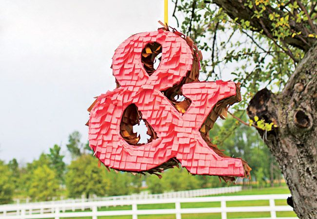 12 Wedding Pinatas - love this ampersand :-) this pin also #sofreakin'hipster