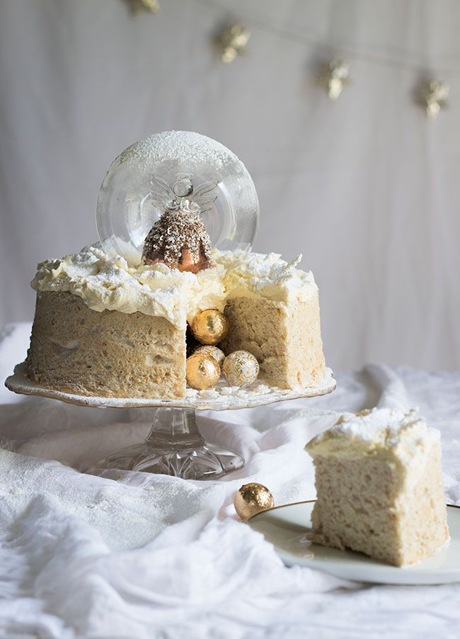 Angel snow globe cake.