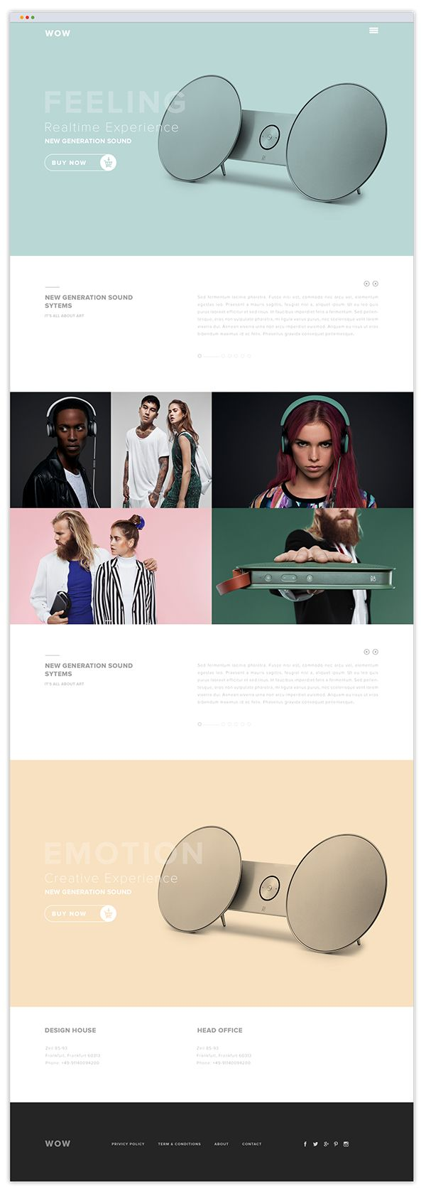 micro page design