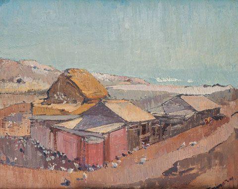 Pt Willunga landscape c1939 - Horace Trennery