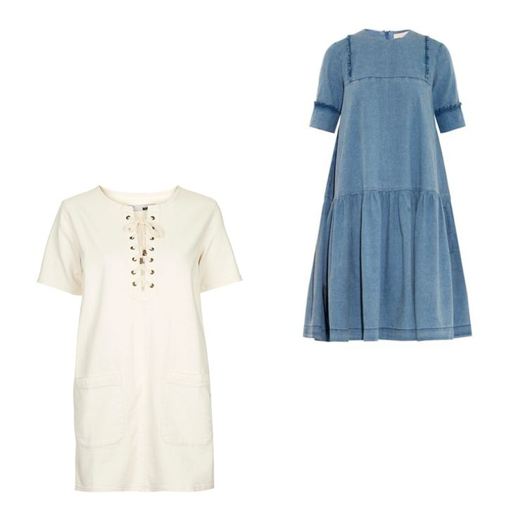 Top right: Preen Line Savannah star-embroidered denim dress, $637 matchesfashion.com -