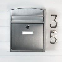 Compact Locking Wall Mount Mailbox - Stainless Steel
