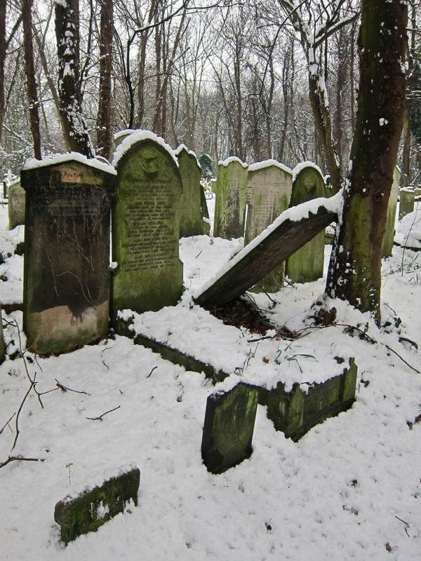 """""""Snowfall at Bow Cemetery, one of the """"Magnificent Seven"""" created by act of Parliament in 1832 as the growing population of London overcrowded the small parish churchyards. Extending to twenty-seven acres and planned on an industrial scale, """"The City of London and Tower Hamlets Cemetery"""" as it was formally called, opened in 1841 and within the first half century alone around a quarter of a million were buried here."""""""