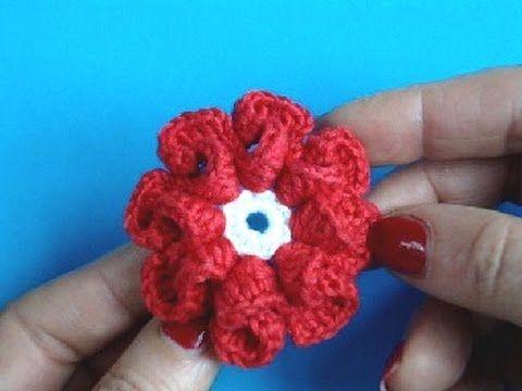 Вязание цветка крючком Урок 9 - How to Crochet flower - YouTube