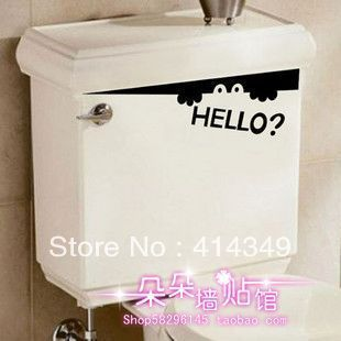 fairy bathroom toilet sticker12*45cm-inWall Stickers from Home & Garden on Aliexpress.com