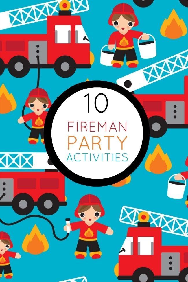fireman birthday party games activities www.spaceshipsandlaserbeams.com