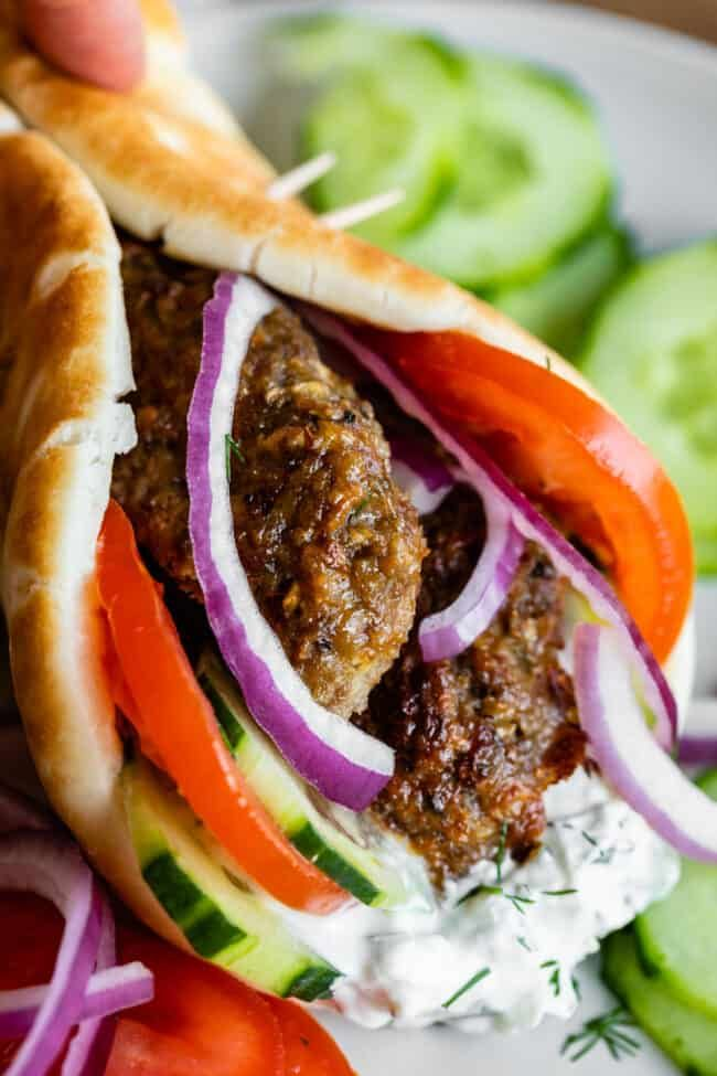 Greek Gyro Recipe With Homemade Gyro Meat From The Food Charlatan Make Your Favorite American Style Greek Gyros At Home Thi In 2020 Gyro Recipe Greek Gyros Gyro Meat