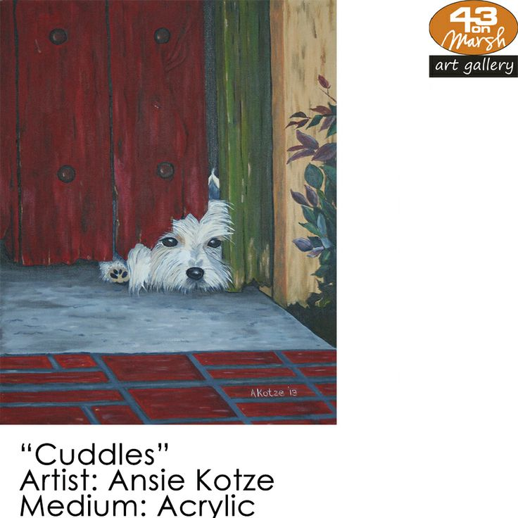 "Don't forget this 20% Late Valentines Special on Ansie Kotze's work.  ""Cuddles"" Acrylic on canvas by Ansie Kotze Contact 43 on Marsh #ArtGallery should you be interested in a work: 083 390 8000 #art #artist, #painting"