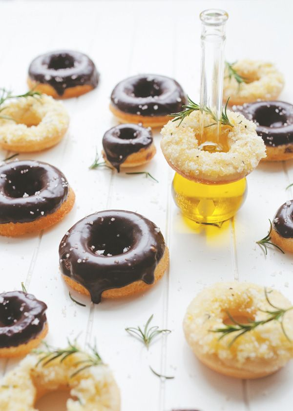 lemon and rosemary donuts with an olive oil sugar crust and olive oil ...