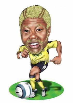 caricature joueur de foot | djibril cissé - caricature footballeurs