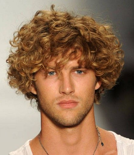 I am kind of in love with boys with curly hair.