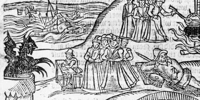 En el proceso más importante llevado a cabo contra la brujería en Escocia. Fueron implicadas 70 personas a las que se torturó en Edimburgo, hasta conseguir las confesiones que sus jueces necesitaban. En este turbio asunto estuvo implicado el rey James VI que creía que las brujas habían intentado hundir el barco en que viajaba hacia Dinamarca.