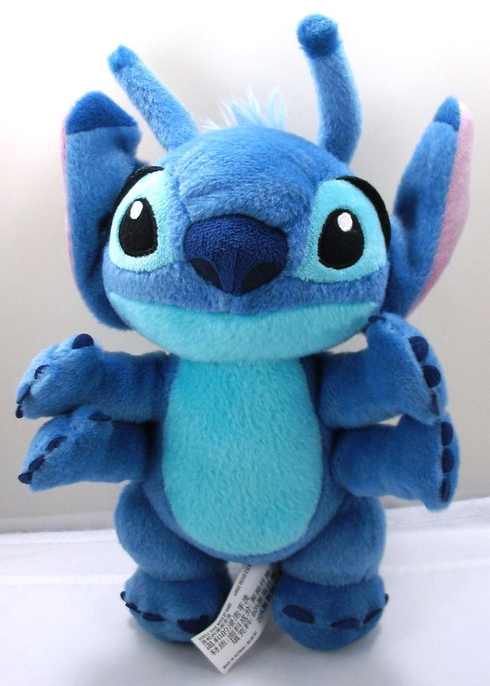ee7e1d37 Disney Parks Lilo Stitch Blue Alien Plush 4 Arms Stuffed Animal 10.5 ...