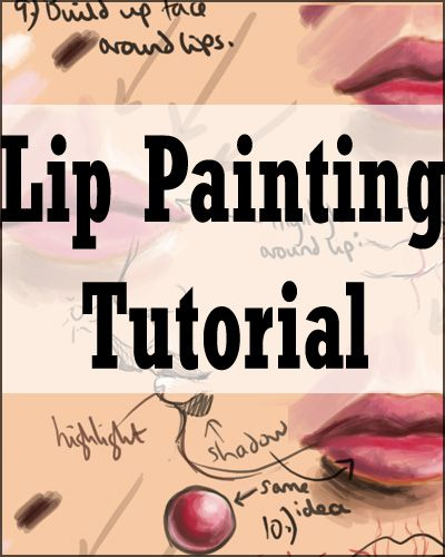Lip Painting Tutorial by acidlullaby on deviantART