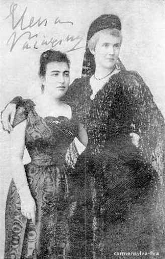 Regina Elisabeta a României (Carmen Sylva) cu Elena Văcărescu