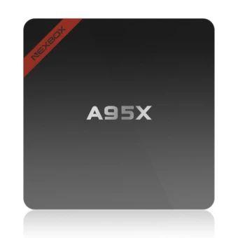 เก็บเงินปลายทาง  A95X NEXBOX Amlogic S905X Quad Core Cortex A53 2.0GHz 64bit Android6.0 BT 4.0 TV Box RAM 1GB ROM 8GB Wifi Streaming Media Player EURO- intl  ราคาเพียง  1,251 บาท  เท่านั้น คุณสมบัติ มีดังนี้ NEXBOX A95X is a Super-Mini Android TV Box, ver