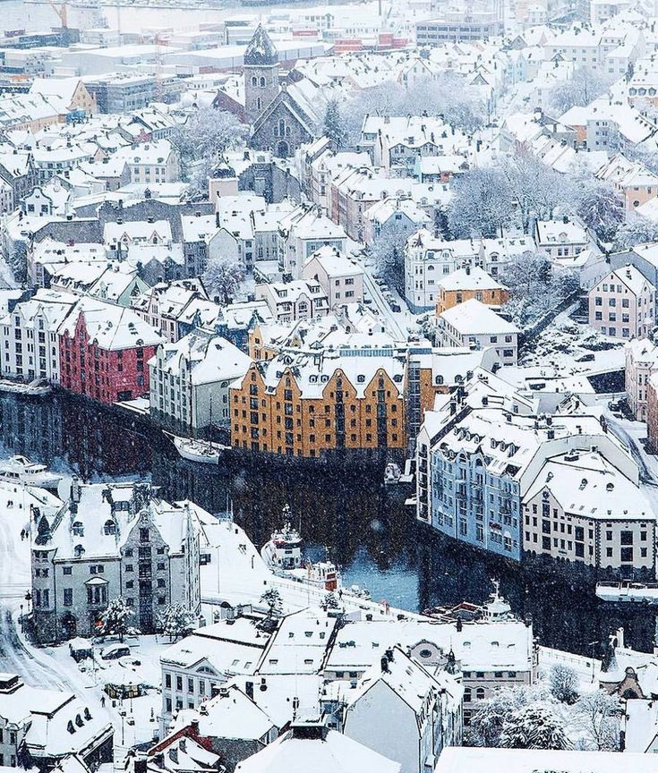 winter in Ålesund, Norway