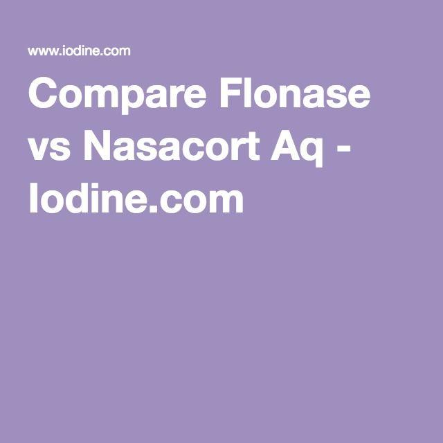 Compare Flonase vs Nasacort Aq - Iodine.com